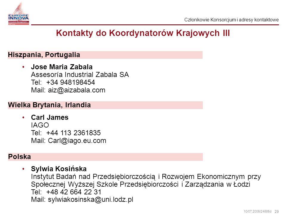 Kontakty do Koordynatorów Krajowych III