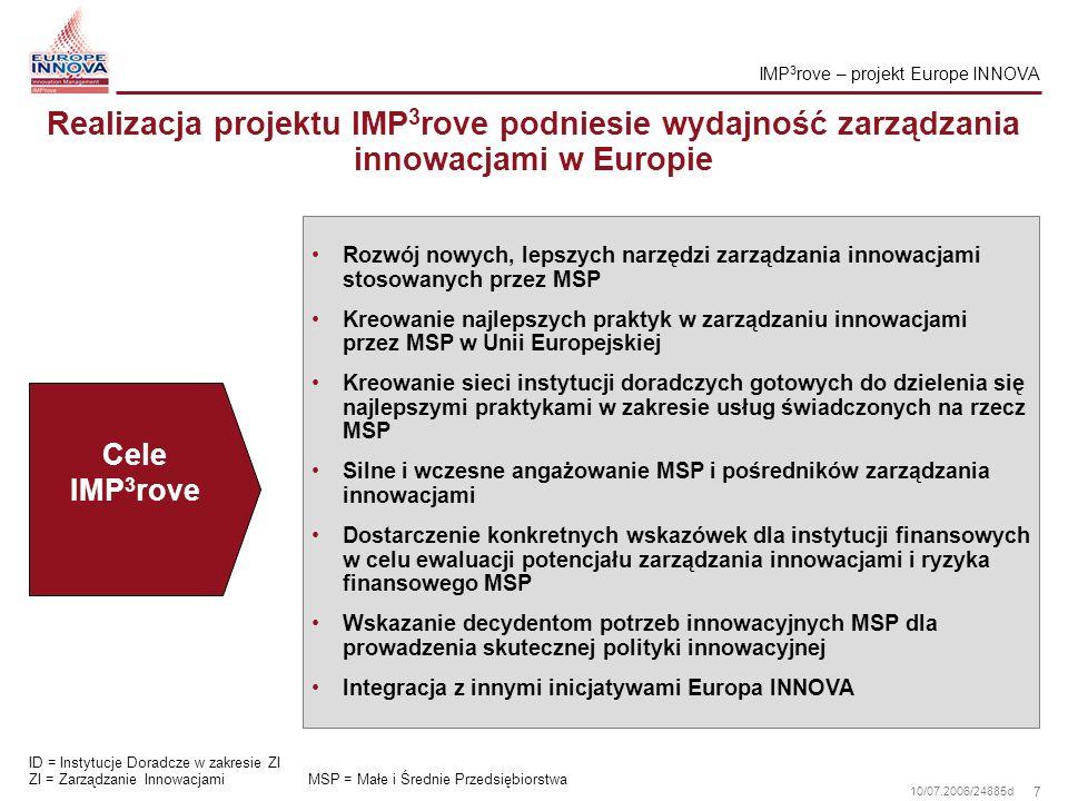 IMP3rove – projekt Europe INNOVA