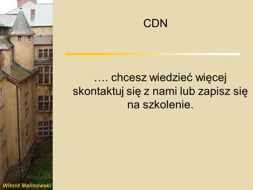 CDN …. chcesz wiedzieć więcej skontaktuj się z nami lub zapisz się na szkolenie.