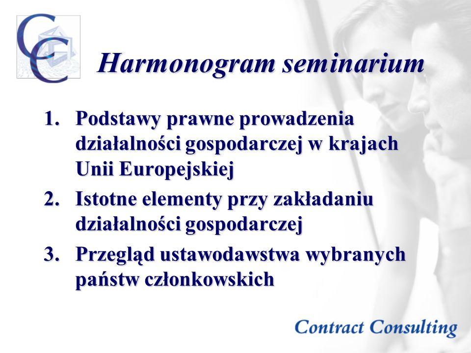Harmonogram seminarium