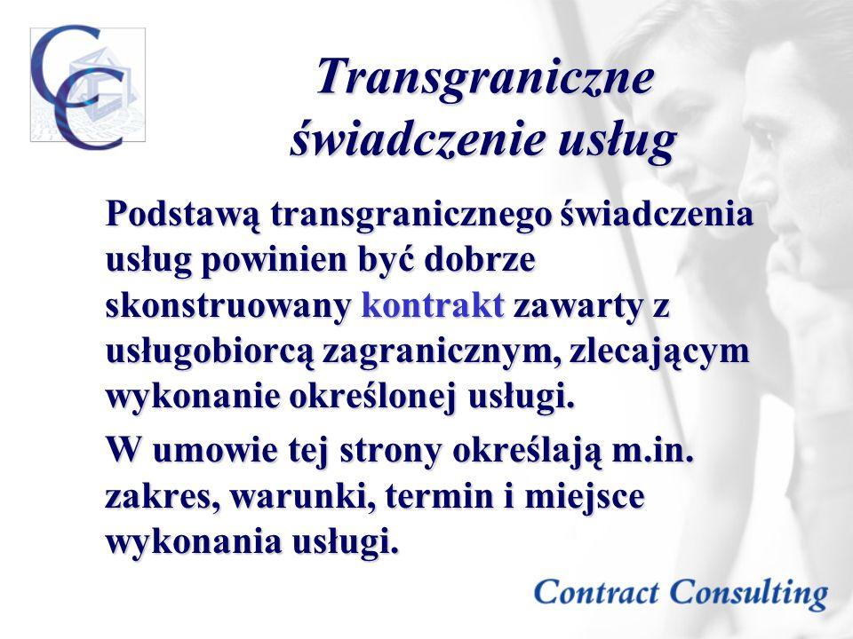 Transgraniczne świadczenie usług