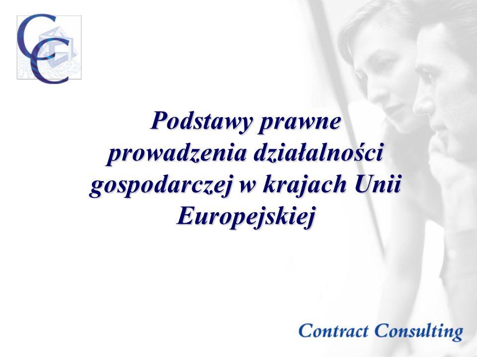 Podstawy prawne prowadzenia działalności gospodarczej w krajach Unii Europejskiej
