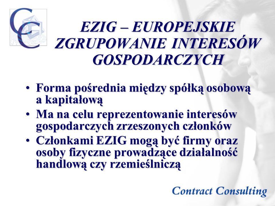 EZIG – EUROPEJSKIE ZGRUPOWANIE INTERESÓW GOSPODARCZYCH