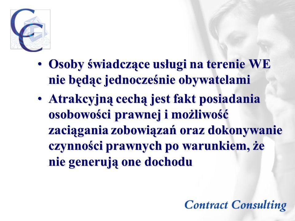 Osoby świadczące usługi na terenie WE nie będąc jednocześnie obywatelami
