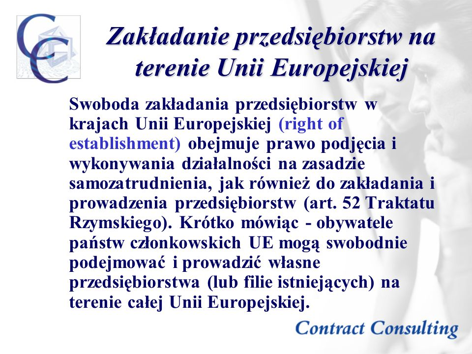 Zakładanie przedsiębiorstw na terenie Unii Europejskiej