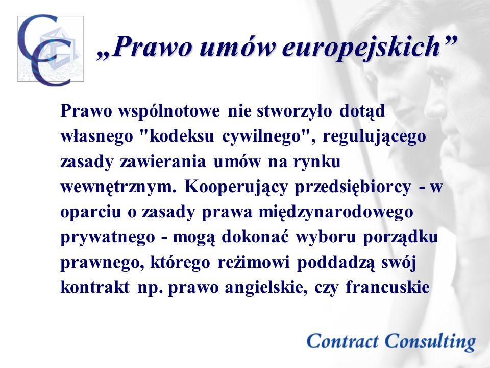 """""""Prawo umów europejskich"""