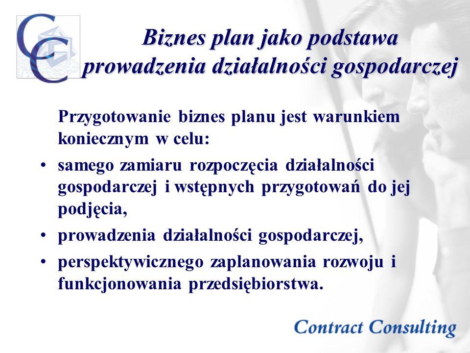 Biznes plan jako podstawa prowadzenia działalności gospodarczej