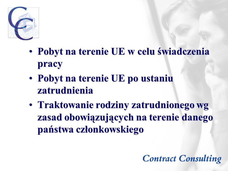 Pobyt na terenie UE w celu świadczenia pracy