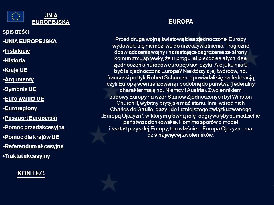 KONIEC EUROPA UNIA EUROPEJSKA
