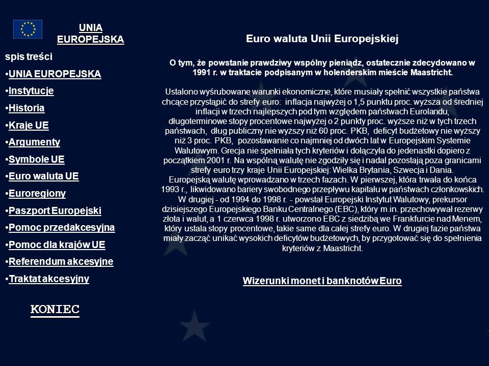 Euro waluta Unii Europejskiej
