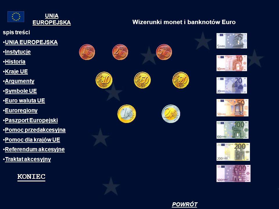 Wizerunki monet i banknotów Euro