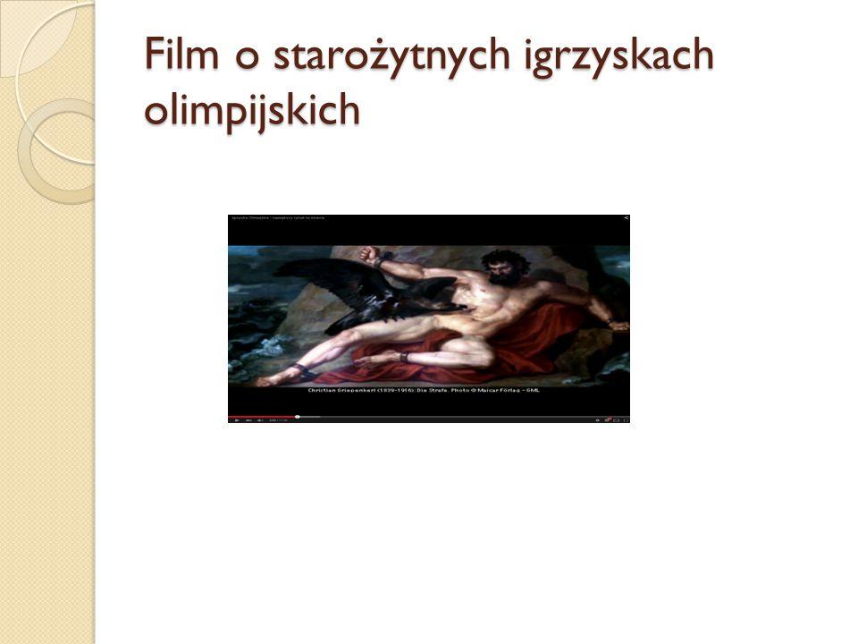 Film o starożytnych igrzyskach olimpijskich