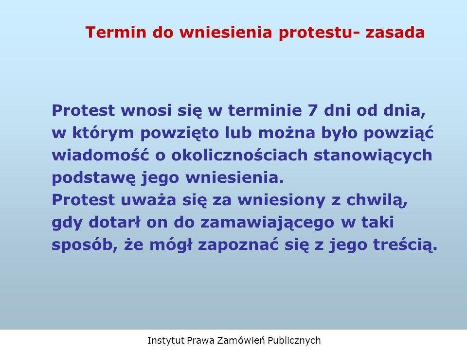Termin do wniesienia protestu- zasada