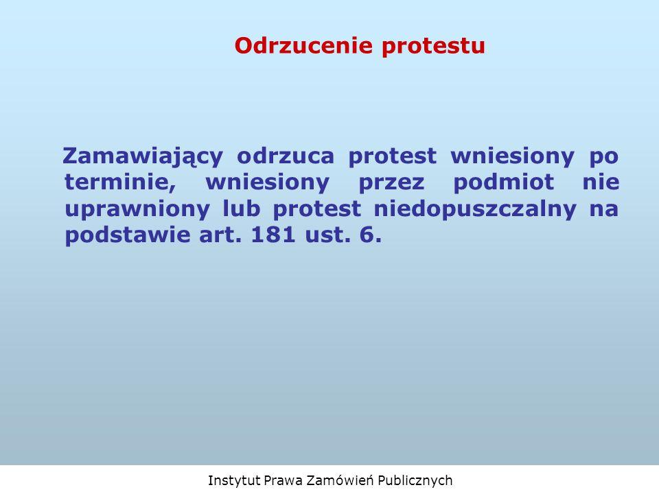 Odrzucenie protestu