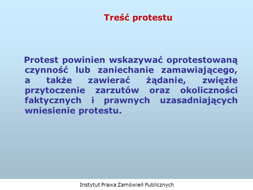 Treść protestu