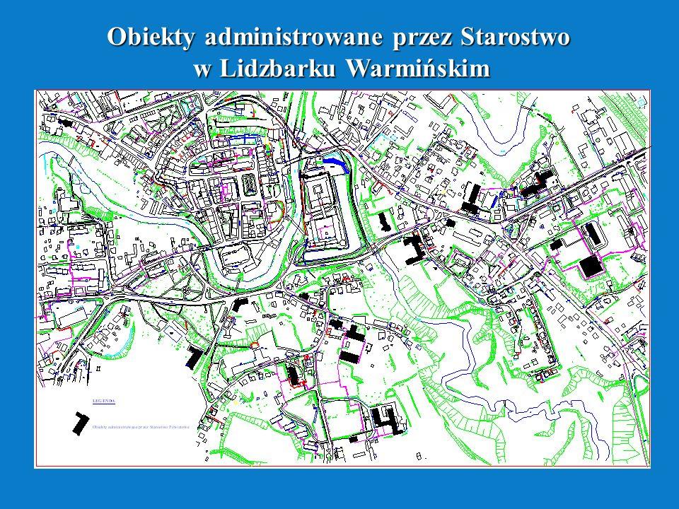 Obiekty administrowane przez Starostwo w Lidzbarku Warmińskim