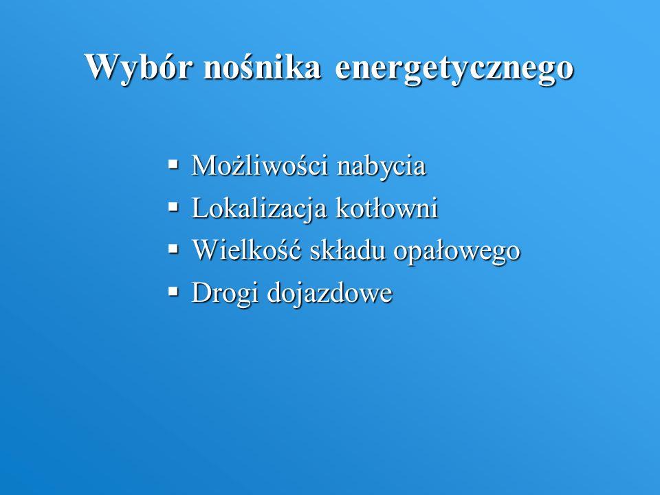 Wybór nośnika energetycznego