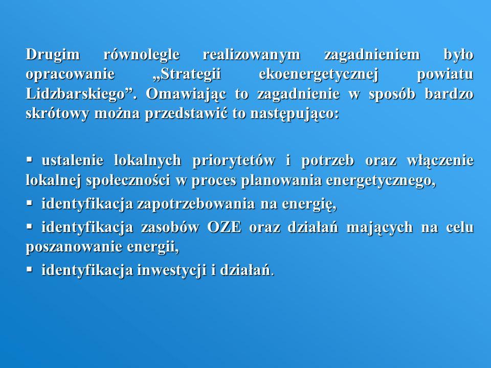 """Drugim równolegle realizowanym zagadnieniem było opracowanie """"Strategii ekoenergetycznej powiatu Lidzbarskiego . Omawiając to zagadnienie w sposób bardzo skrótowy można przedstawić to następująco:"""