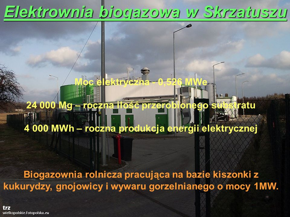 Elektrownia biogazowa w Skrzatuszu