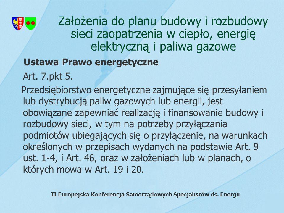 Założenia do planu budowy i rozbudowy sieci zaopatrzenia w ciepło, energię elektryczną i paliwa gazowe