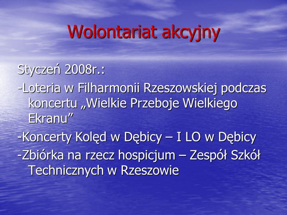 Wolontariat akcyjny Styczeń 2008r.:
