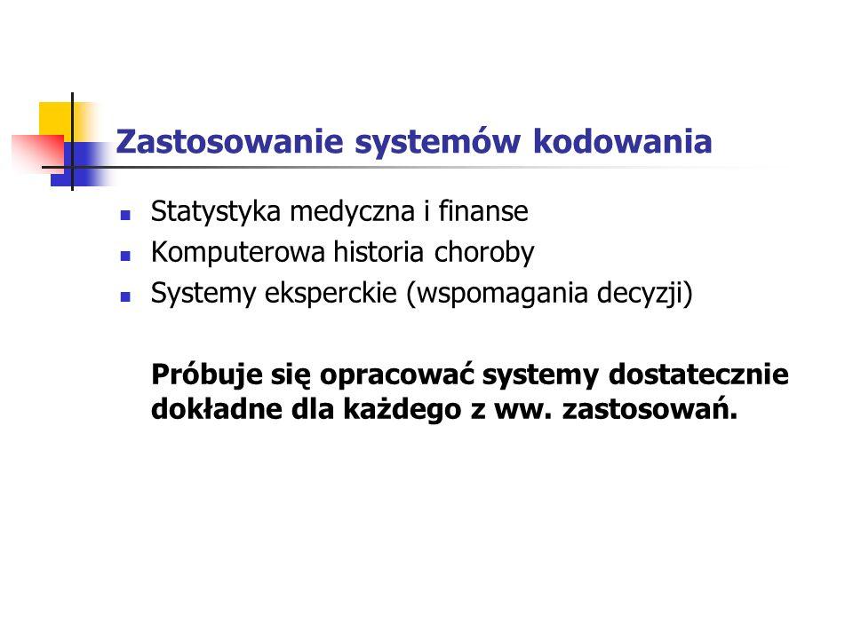 Zastosowanie systemów kodowania