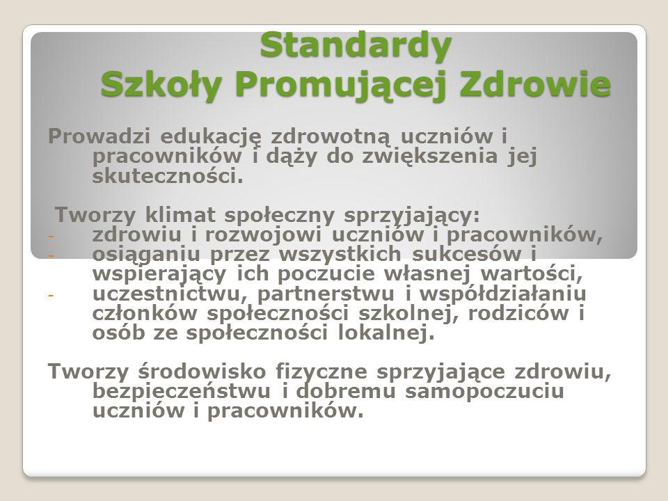 Standardy Szkoły Promującej Zdrowie