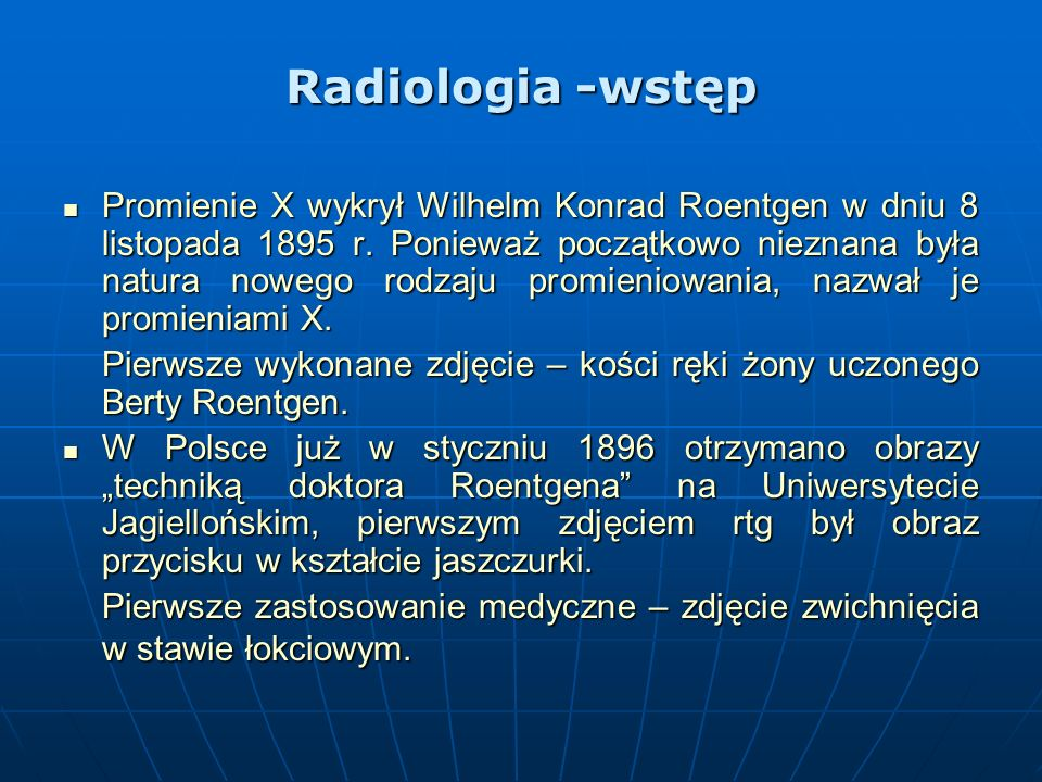 Radiologia -wstęp