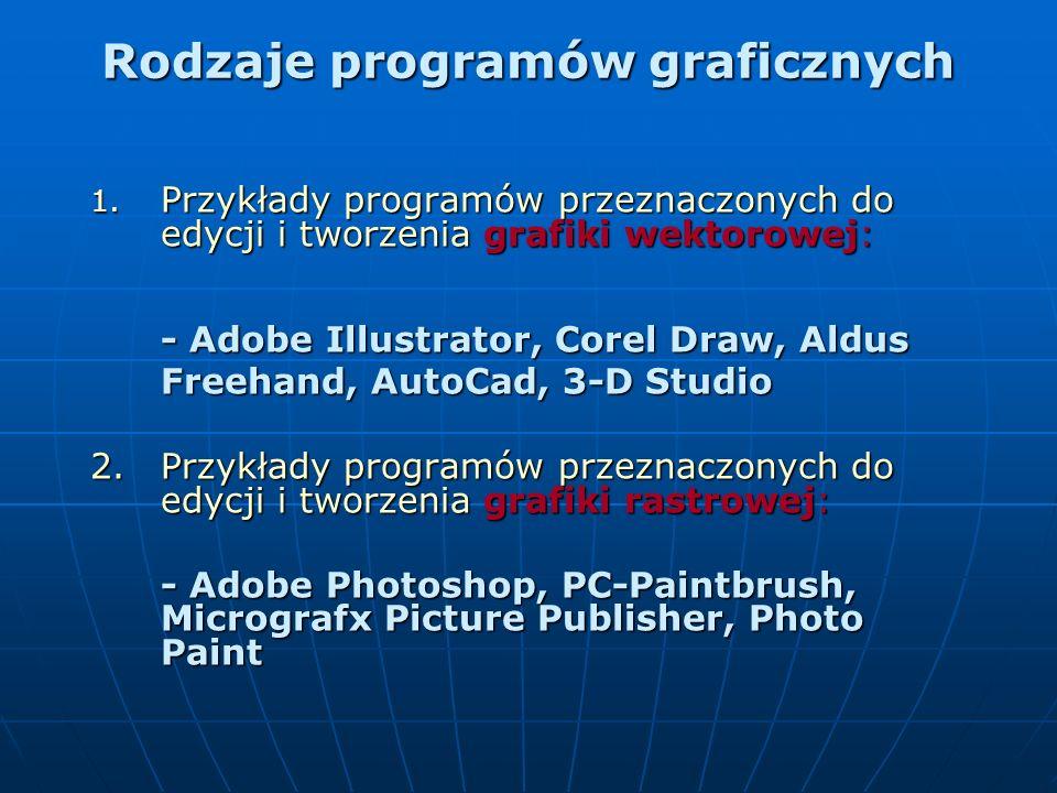 Rodzaje programów graficznych