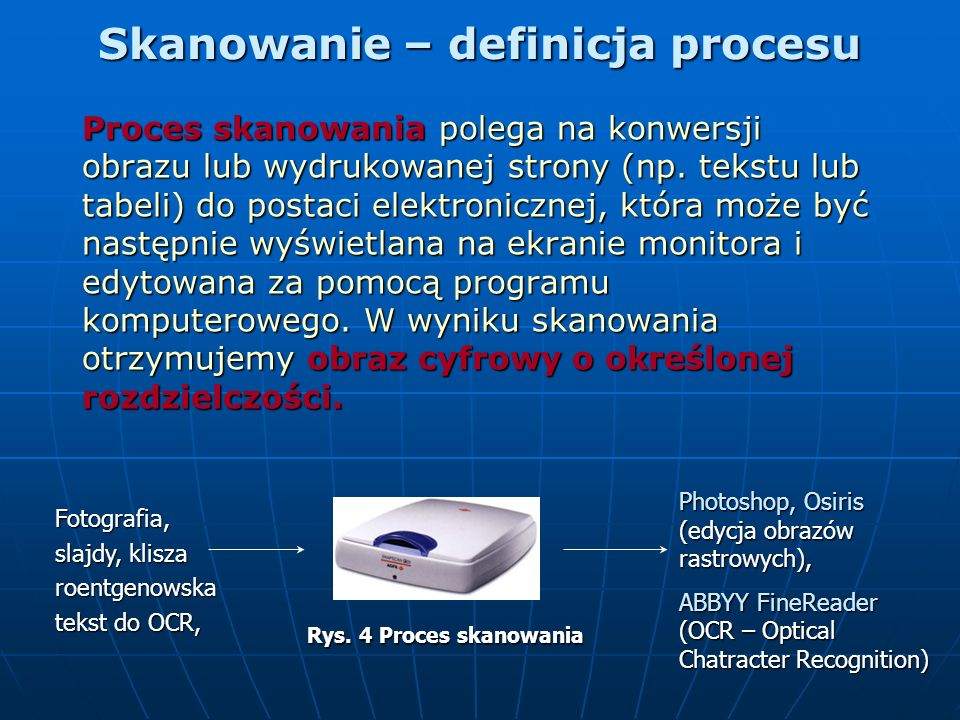 Skanowanie – definicja procesu