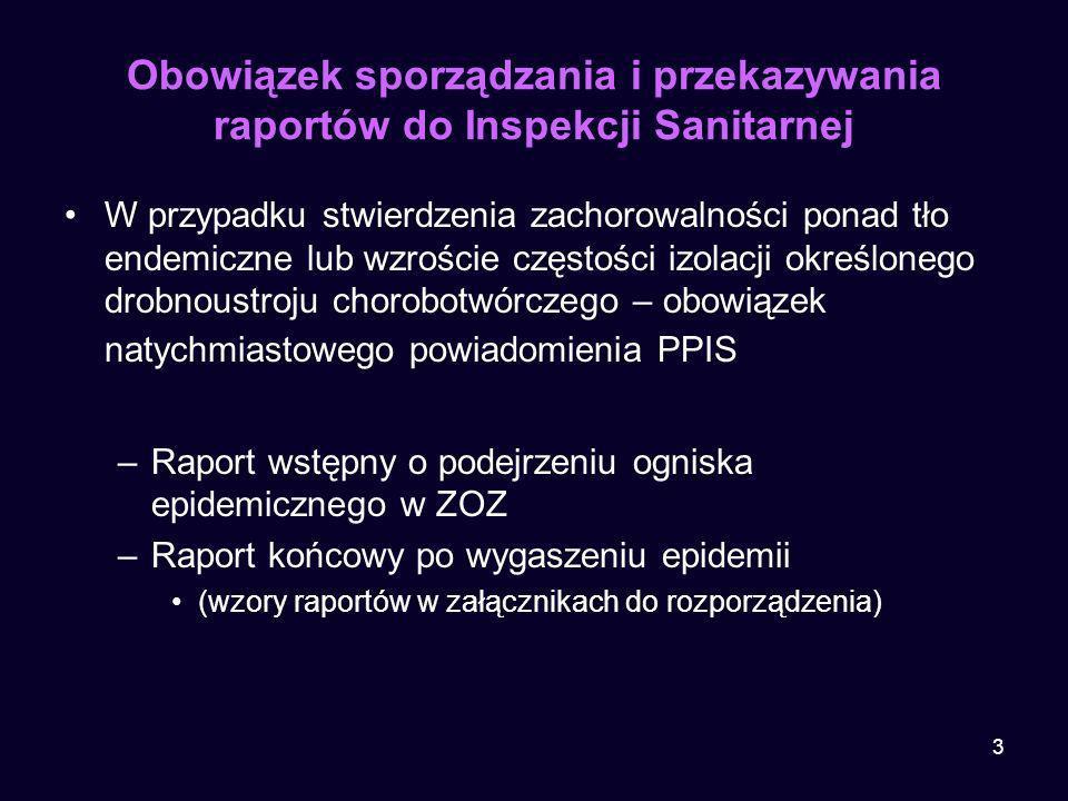 Obowiązek sporządzania i przekazywania raportów do Inspekcji Sanitarnej