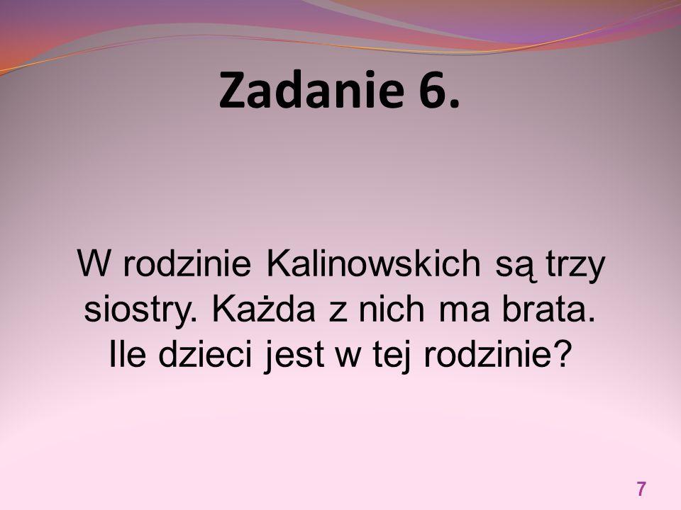 Zadanie 6. W rodzinie Kalinowskich są trzy siostry.