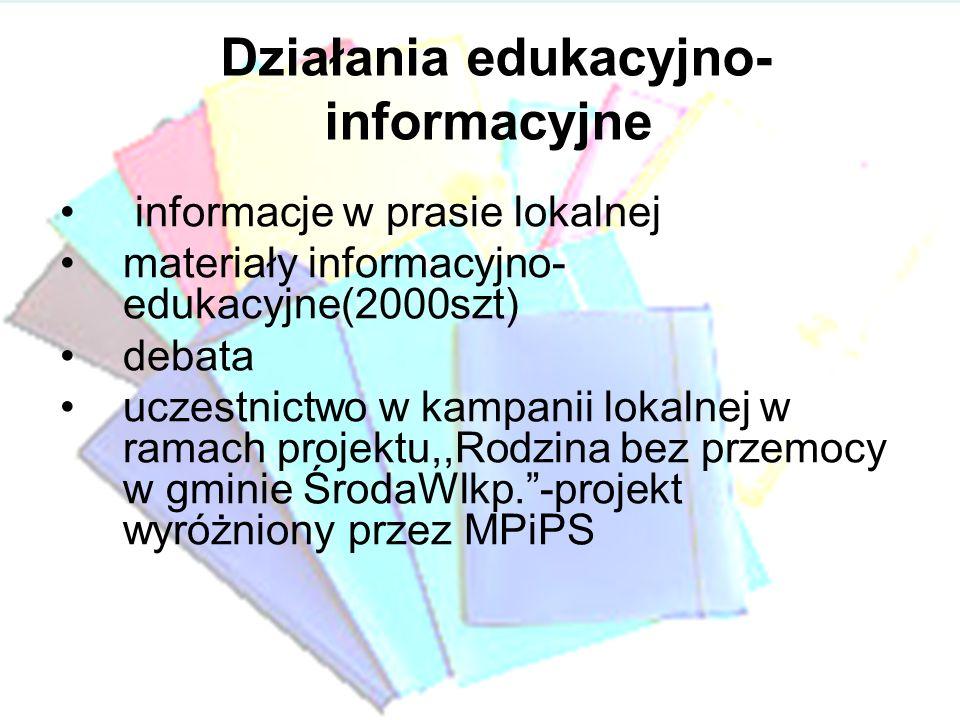 Działania edukacyjno-informacyjne