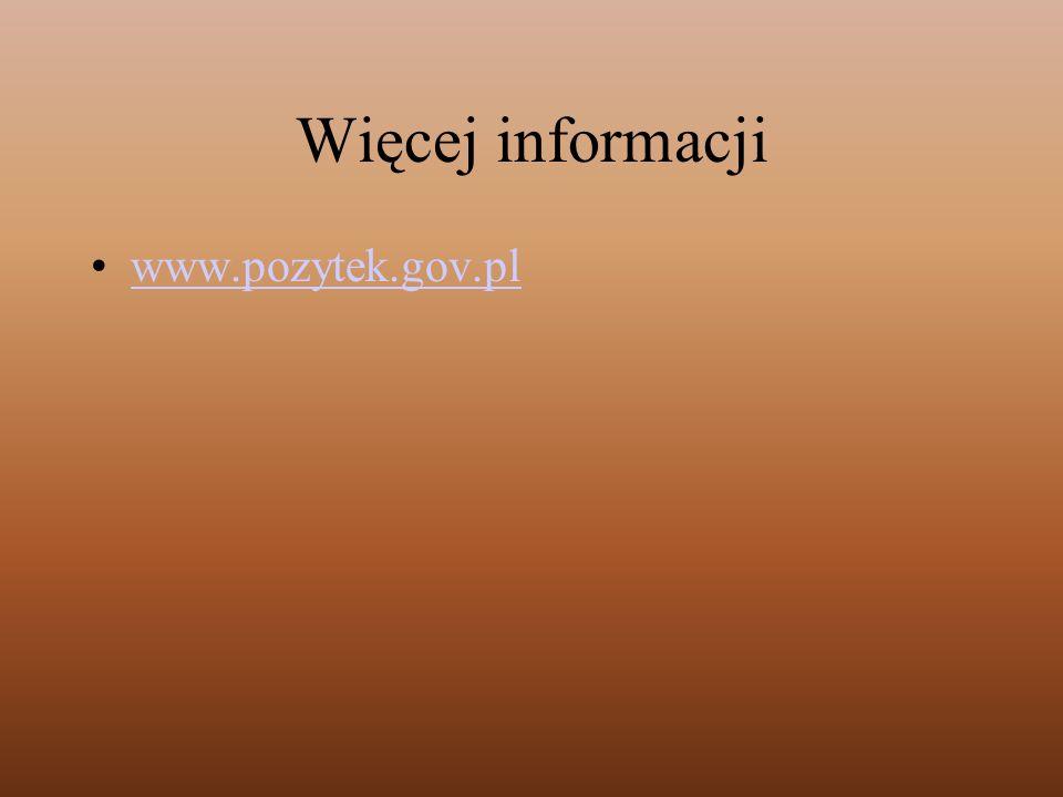 Więcej informacji www.pozytek.gov.pl