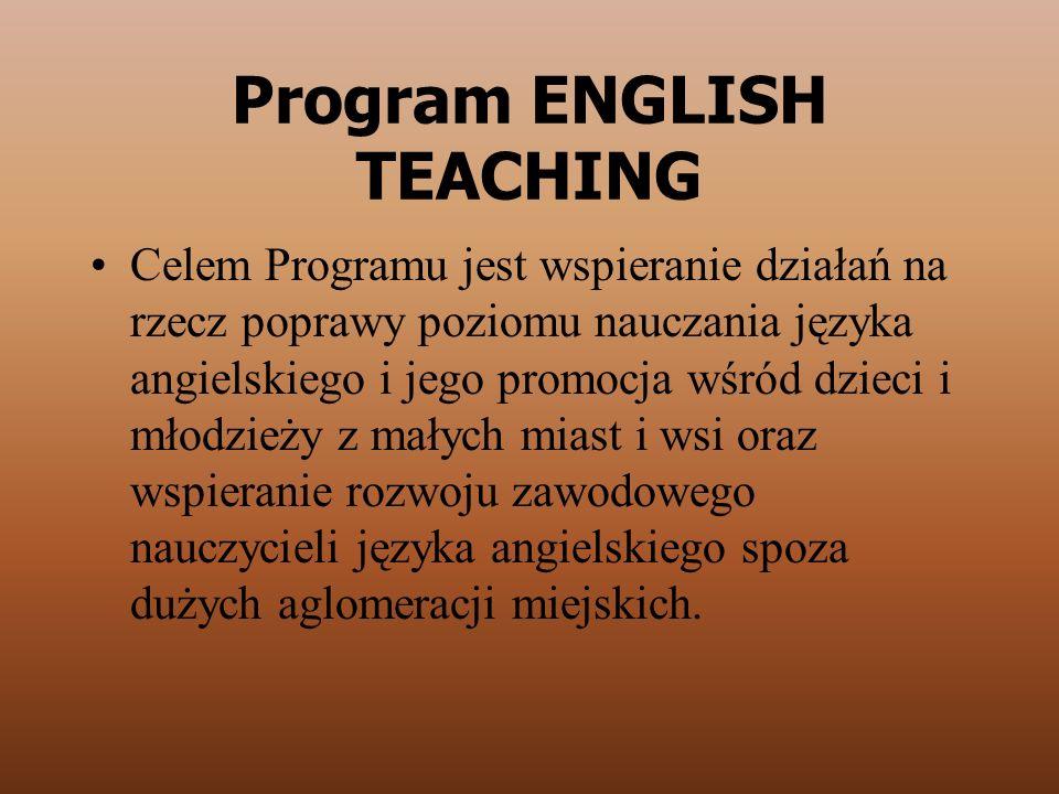Program ENGLISH TEACHING