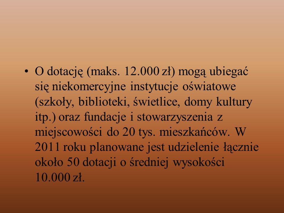 O dotację (maks.