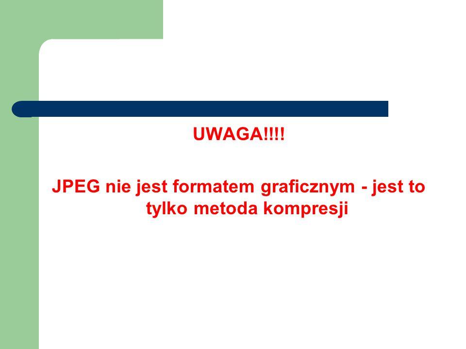 JPEG nie jest formatem graficznym - jest to tylko metoda kompresji