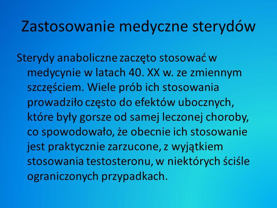 Zastosowanie medyczne sterydów