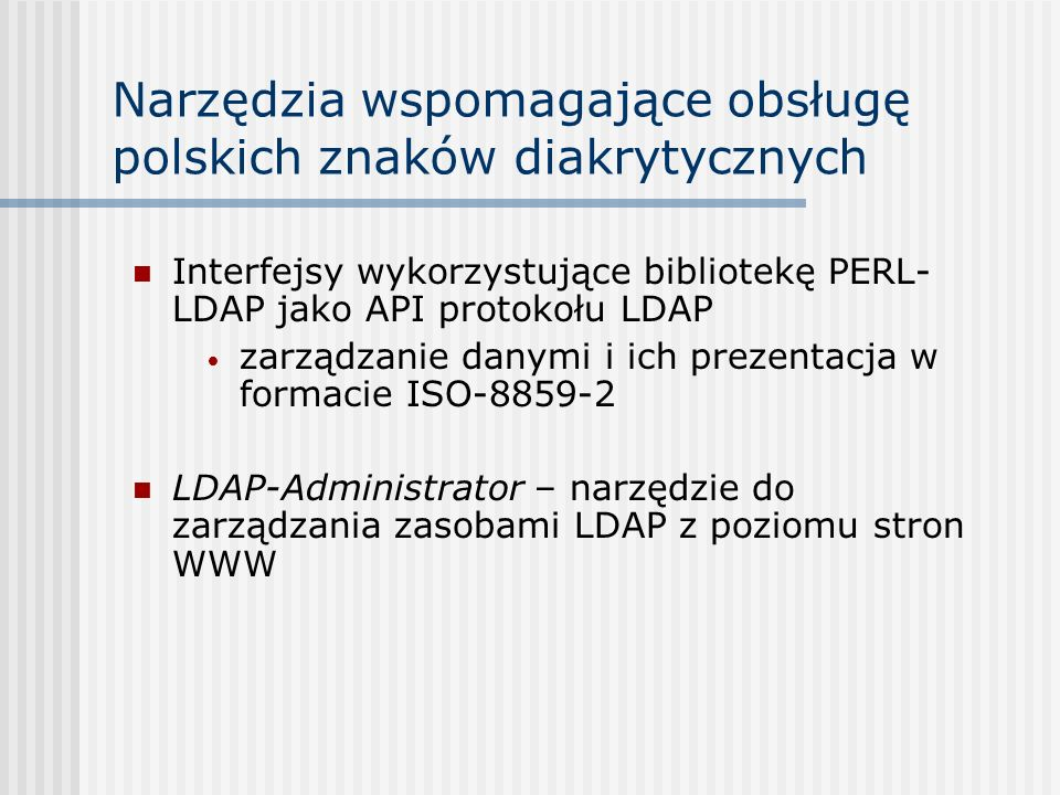 Narzędzia wspomagające obsługę polskich znaków diakrytycznych