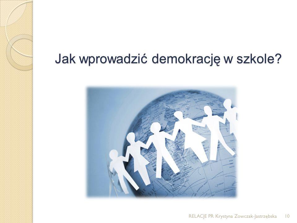 Jak wprowadzić demokrację w szkole