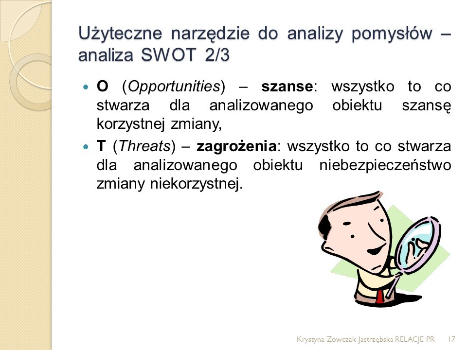 Użyteczne narzędzie do analizy pomysłów – analiza SWOT 2/3