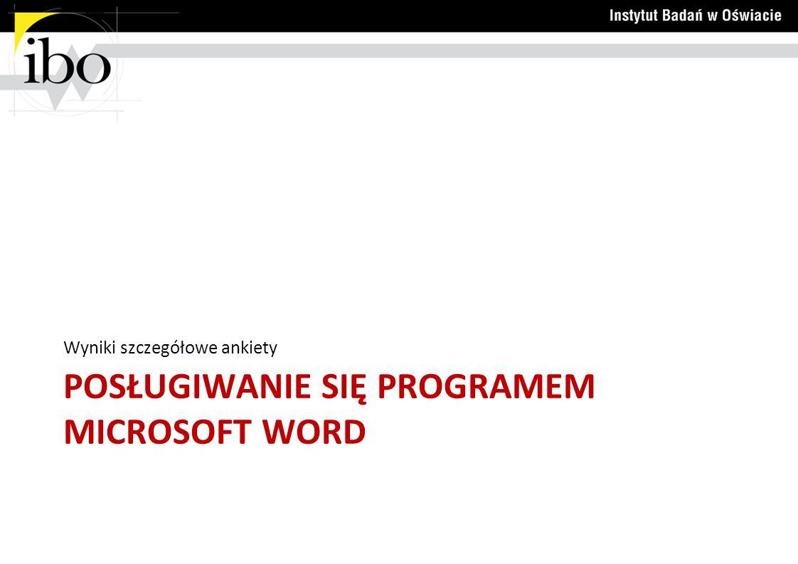 Posługiwanie się programem microsoft word
