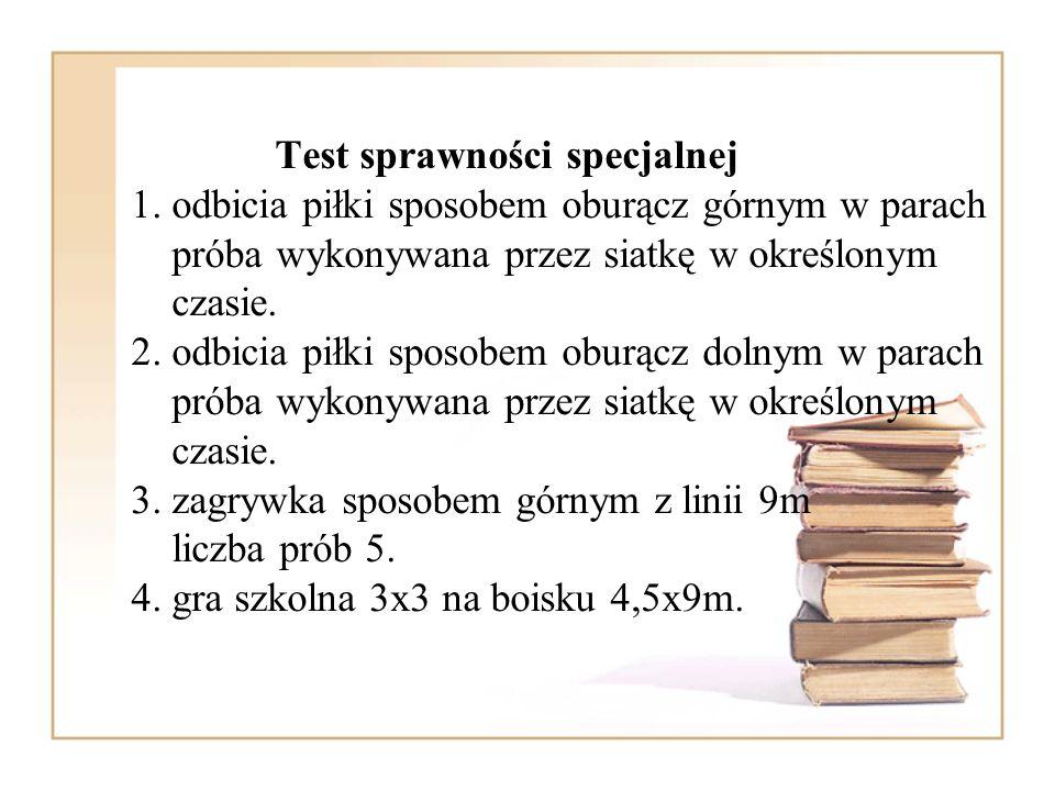 Test sprawności specjalnej 1