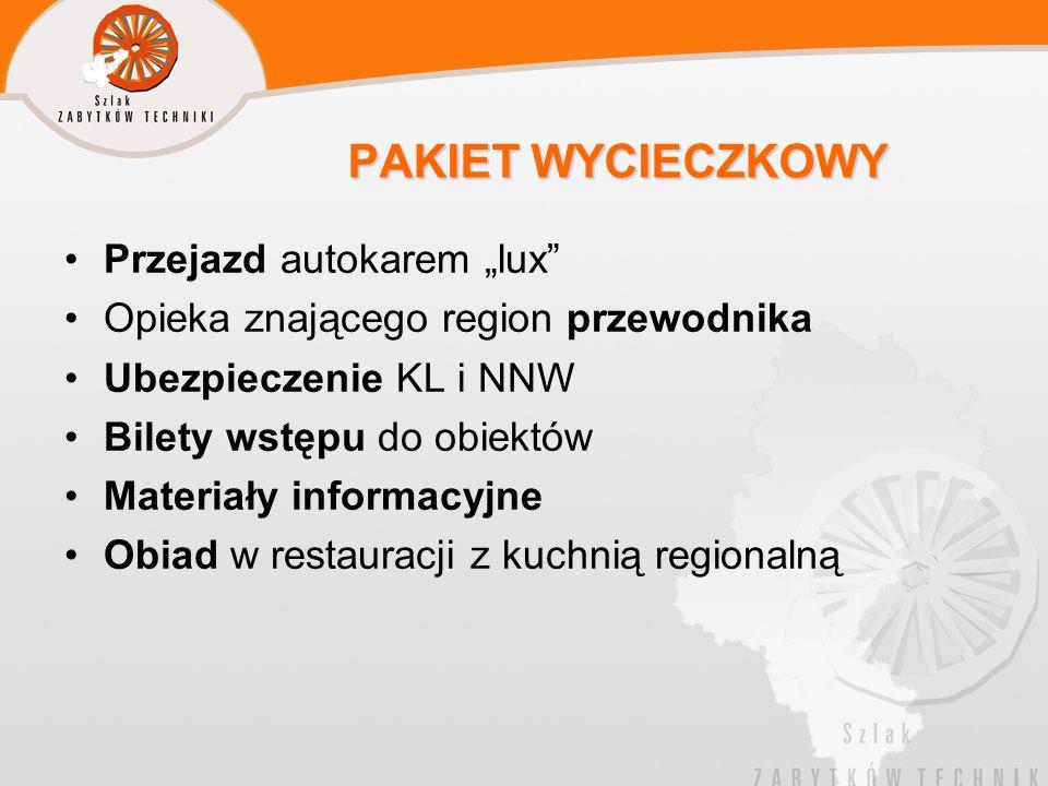 """PAKIET WYCIECZKOWY Przejazd autokarem """"lux"""