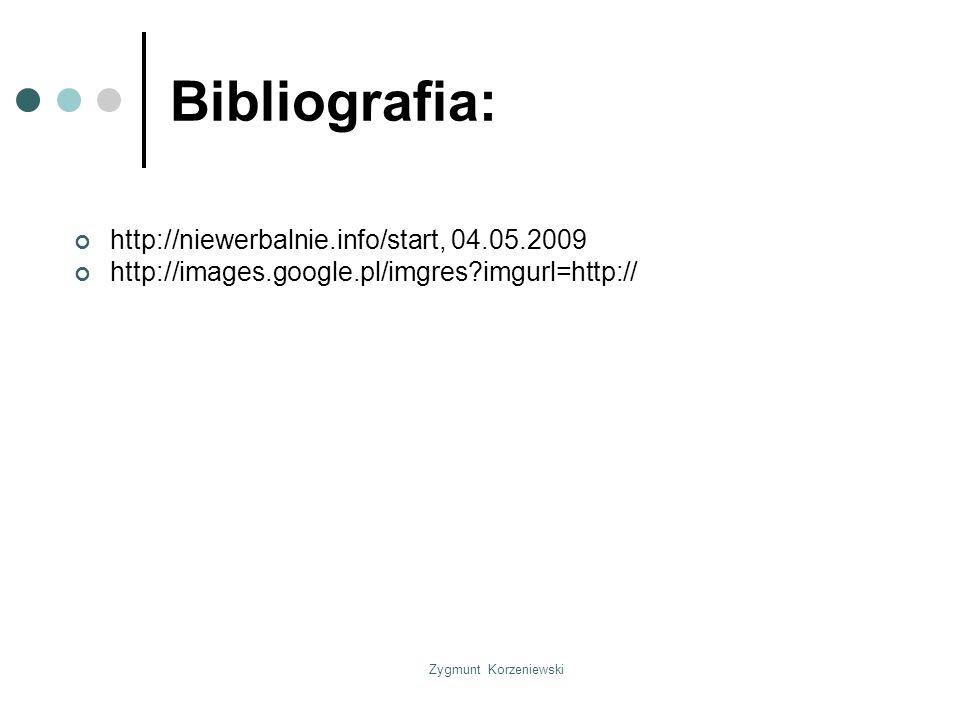 Bibliografia: http://niewerbalnie.info/start, 04.05.2009