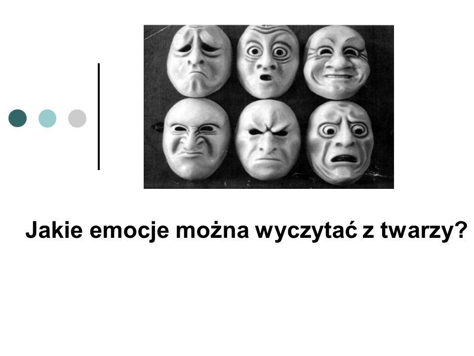 Jakie emocje można wyczytać z twarzy