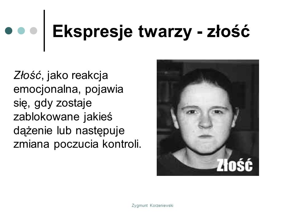 Ekspresje twarzy - złość