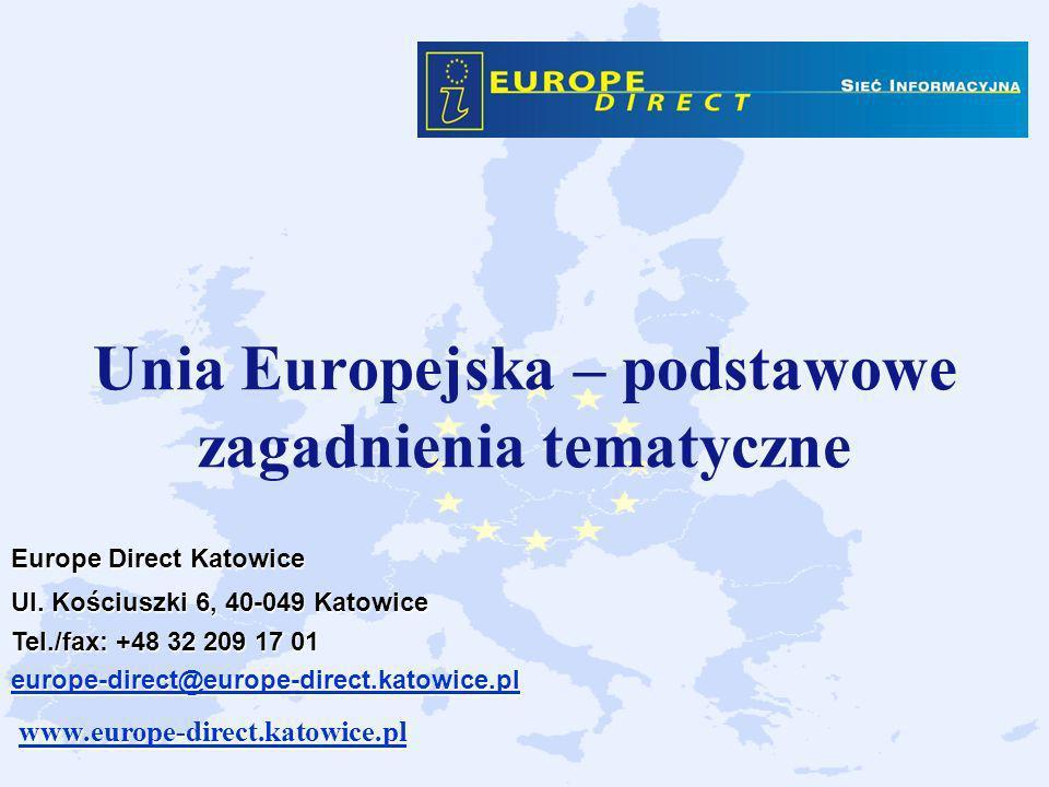 Unia Europejska – podstawowe zagadnienia tematyczne