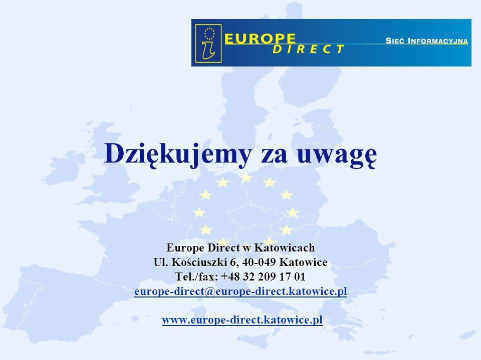 Dziękujemy za uwagę Europe Direct w Katowicach Ul