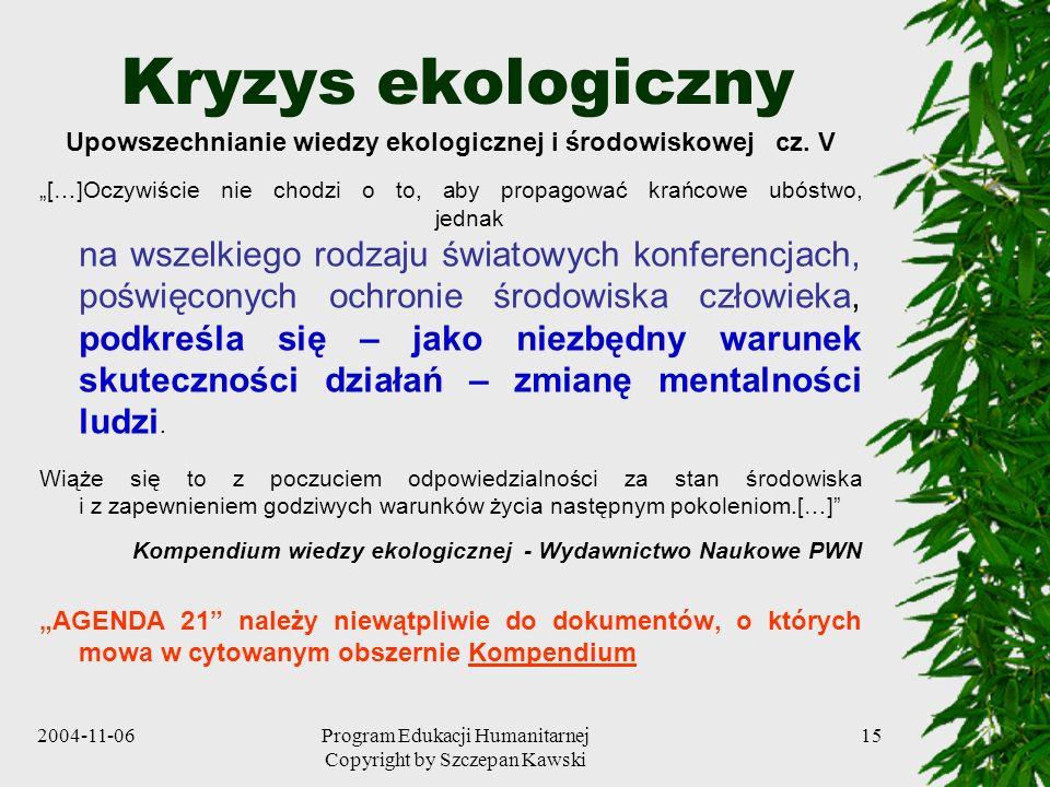 Upowszechnianie wiedzy ekologicznej i środowiskowej cz. V